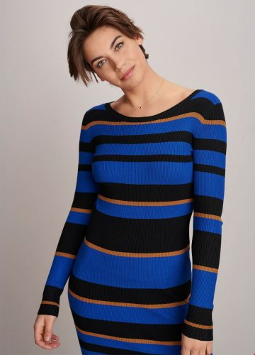 Tramontana Dress Multi Stripe